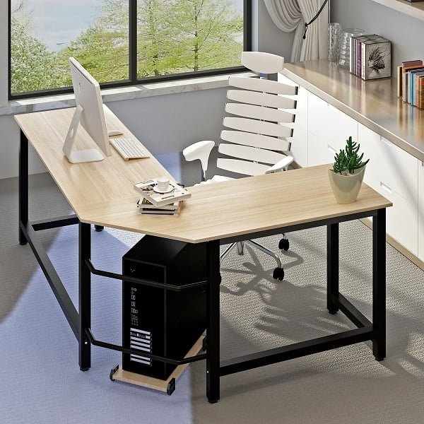 This Is Another Space Saving Home Office Desk That Will Fit Right At In Any Corner The L Shaped Wrap Around Design Offers Enough Work Surface