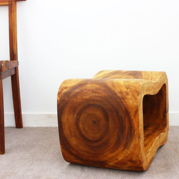 Sustainable Monkey Pod Wood Wave Bench