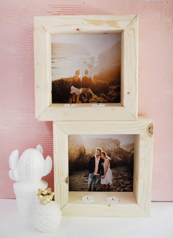 20 Easy DIY Picture Frame Tutorials for Your Next Project - How to make a #DIY Candle Picture Frame #homedecor