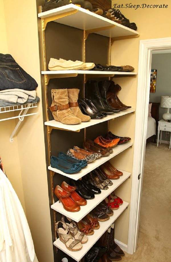 62 easy diy shoe rack storage ideas you can build on a budget. Black Bedroom Furniture Sets. Home Design Ideas