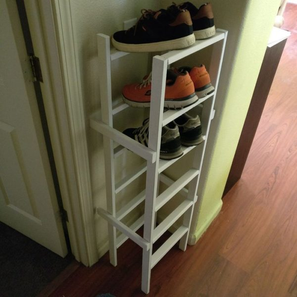 60+ Easy DIY Shoe Rack Ideas You Can Build on a Budget - How to make a  Column Shoe Rack