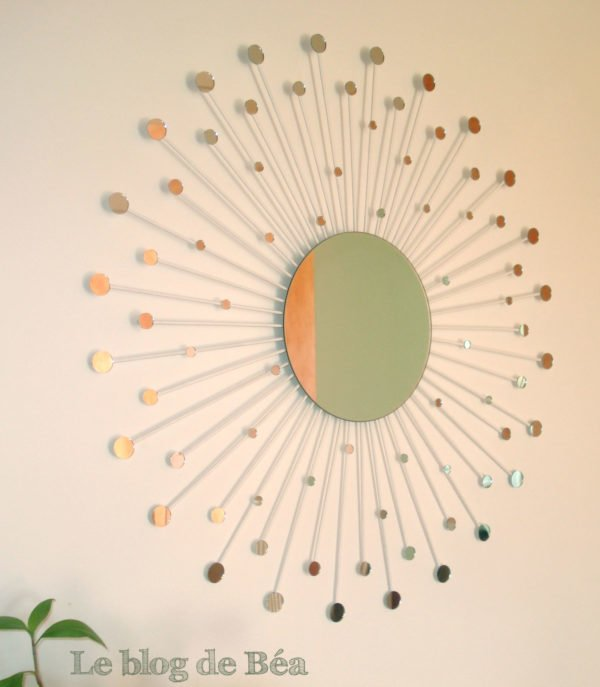 50 Fab DIY Mirror Frames You Can Easily Make Yourself - How to make a DIY contellation mirror #DIY #homedecor