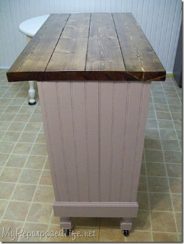 25 Easy DIY Kitchen Island Ideas That You Can Build on a Budget - How to make a  Desk Kitchen Island