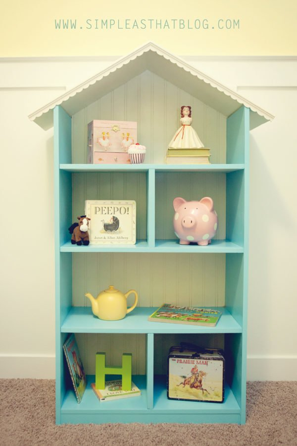 22 Easy DIY Bookshelf Ideas You Can Build at Home - How to build a  Dollhouse Bookshelf