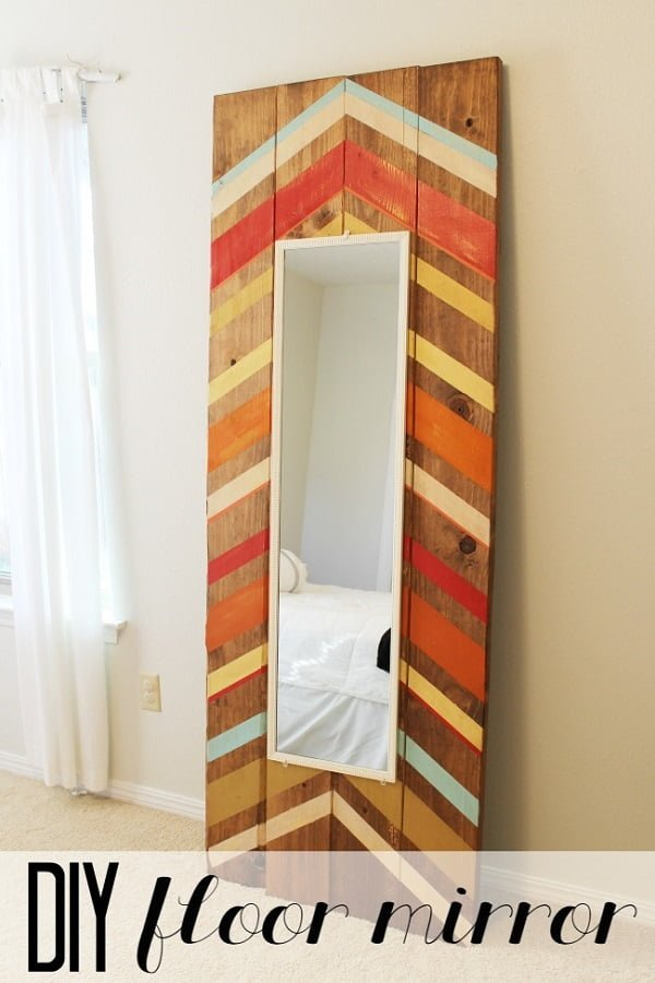 50 Fab DIY Mirror Frames You Can Easily Make Yourself - How to make a DIY full length mirror #DIY #homedecor