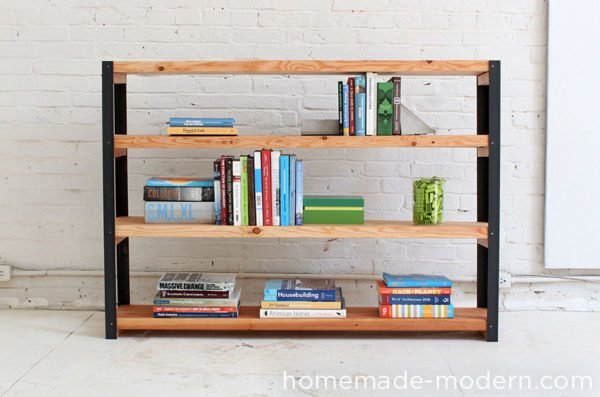22 Easy DIY Bookshelf Ideas You Can Build at Home - How to make a  Ironbound Bookshelf