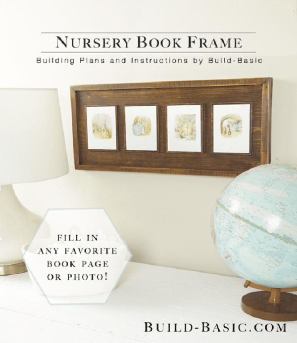 20 Easy DIY Picture Frame Tutorials for Your Next Project - How to make a Nursery Book Picture Frame