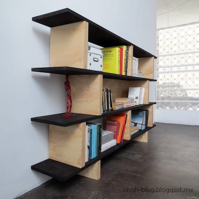 22 Easy DIY Bookshelf Ideas You Can Build at Home - How to make a  Office Bookshelf