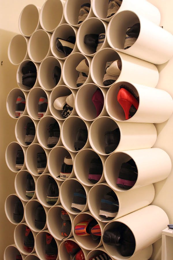 How to make a  PVC Pipe Shoe Rack