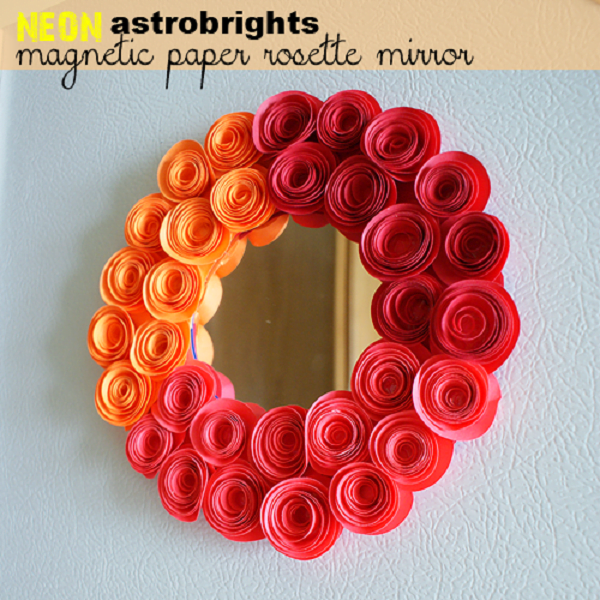 50 Fab DIY Mirror Frames You Can Easily Make Yourself - How to make a DIY rosette mirror #DIY #homedecor
