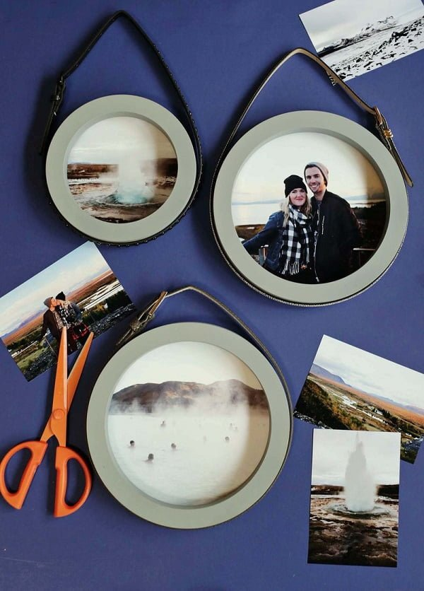 20 Easy DIY Picture Frame Tutorials for Your Next Project - How to make a #DIY Picture Frame from Round Circles #homedecor