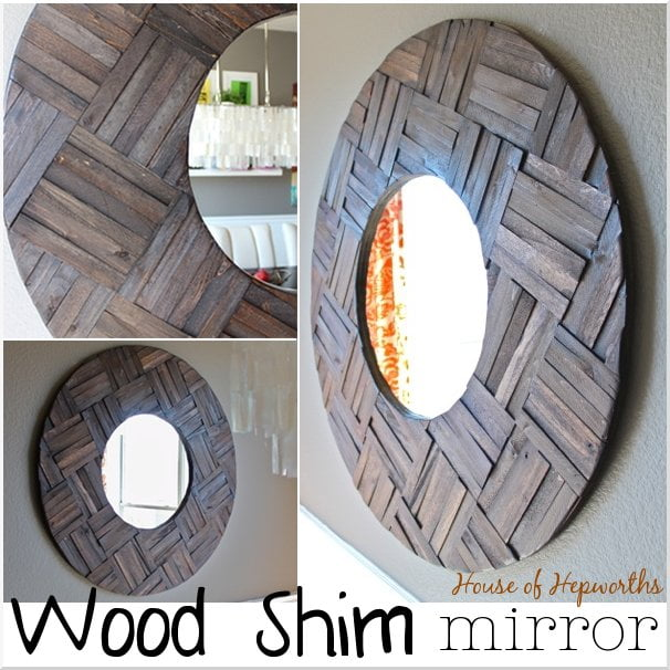 50 Fab DIY Mirror Frames You Can Easily Make Yourself - How to make a DIY shims mirror #DIY #homedecor