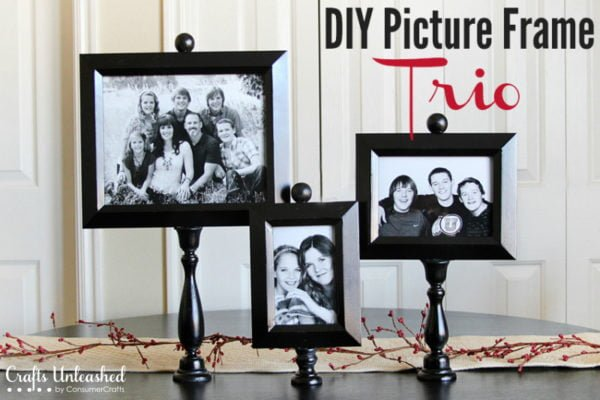 20 Easy DIY Picture Frame Tutorials for Your Next Project - How to make a #DIY Trio Picture Frame #homedecor