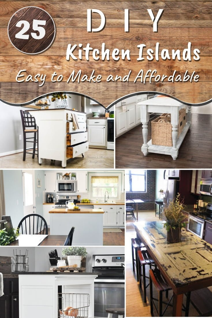 What may seem like a tricky project, a DIY kitchen island can actually be easy to build. All you need is the right tutorial. And here are 25 easy and affordable DIY kitchen island ideas. Worth saving! #homedecor #DIY #kitchendesign