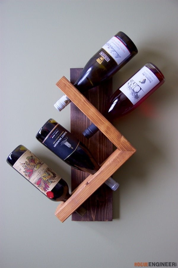 How to make a #DIY DIY Wine Bottle Holder #homedecor