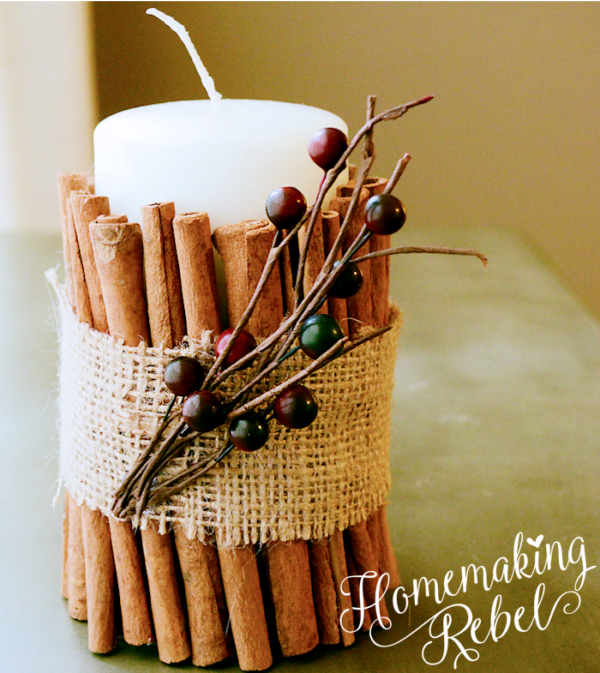 How to make  adorable cinnamon sticks candleholders