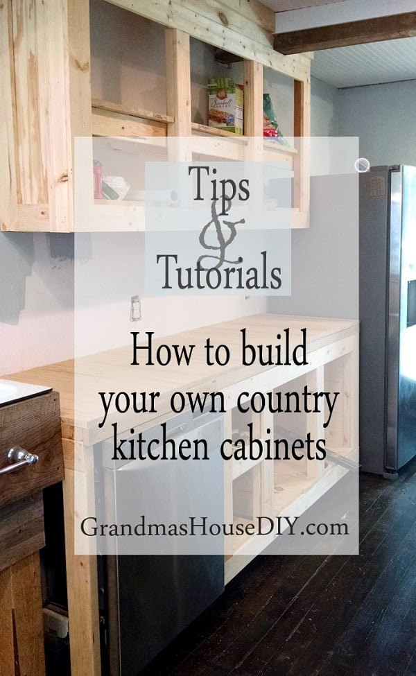 How to build  country style kitchen cabinets