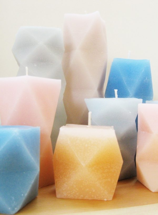 How to make #DIY dynamic geometric candles #homedecor