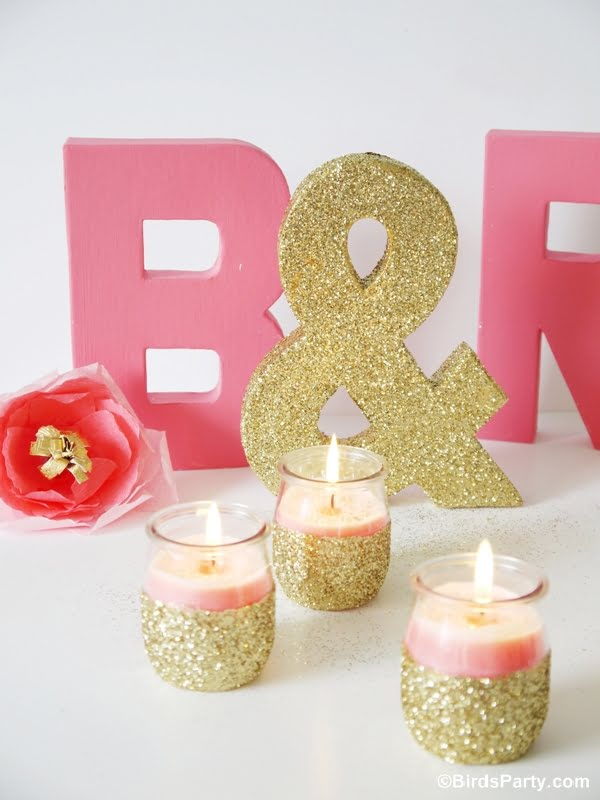 How to make  divine gold-pink candles