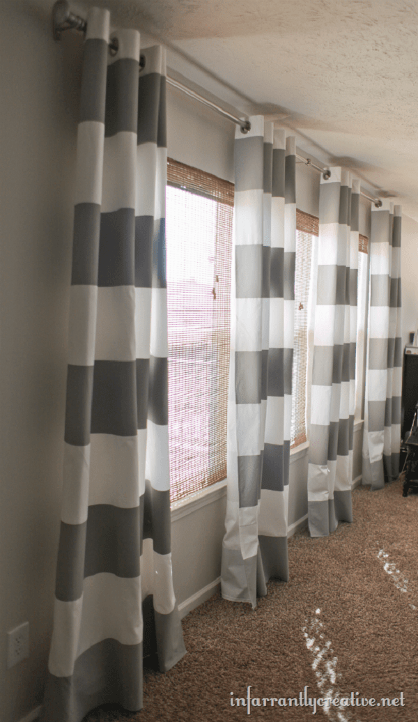 How to make #DIY Hand-Painted Curtains #homedecor