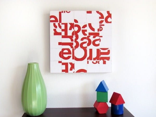 How to make Junk Mail #DIY Canvas Art