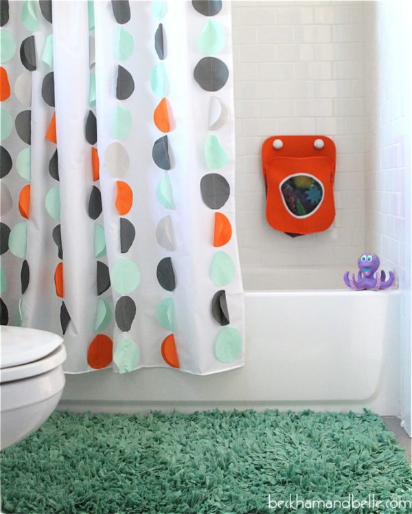 How to make #DIY Kids Shower Curtains #homedecor