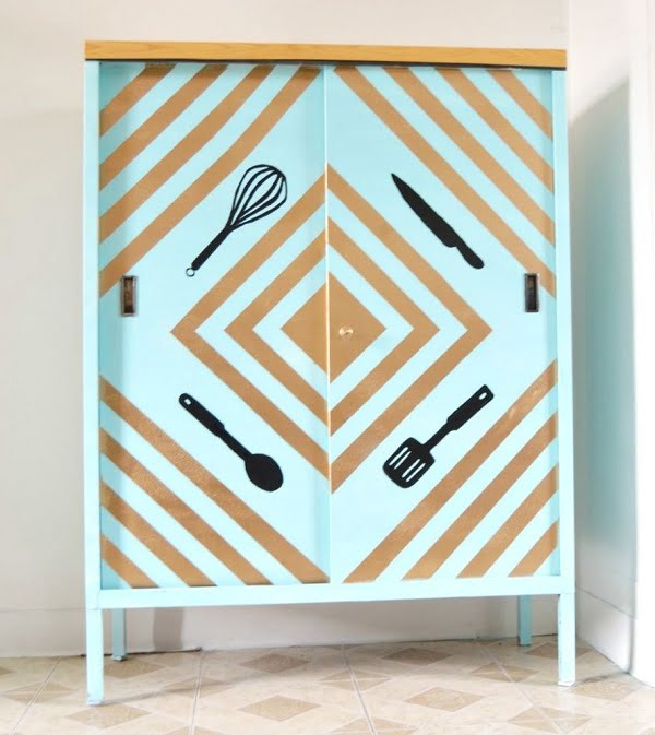 How to  makeover kitchen cabinets with paint