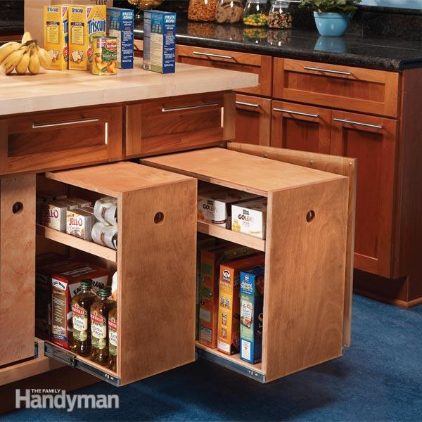 How to make  kitchen cabinet rollout drawers