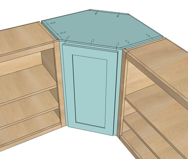 How to build  kitchen corner cabinets