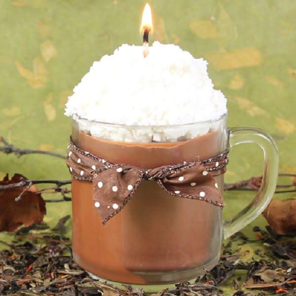 How to make  chai tea latte candle