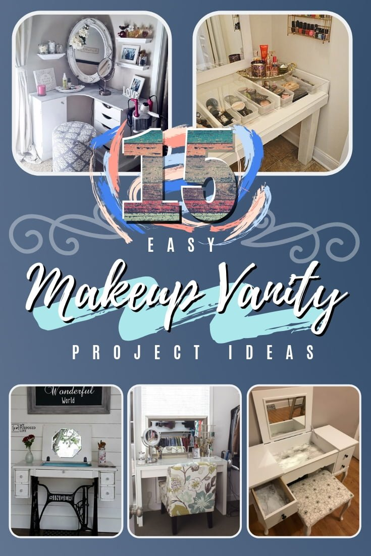 Diy Makeup Vanity Table 15 Easy Ideas For A Pretty Project