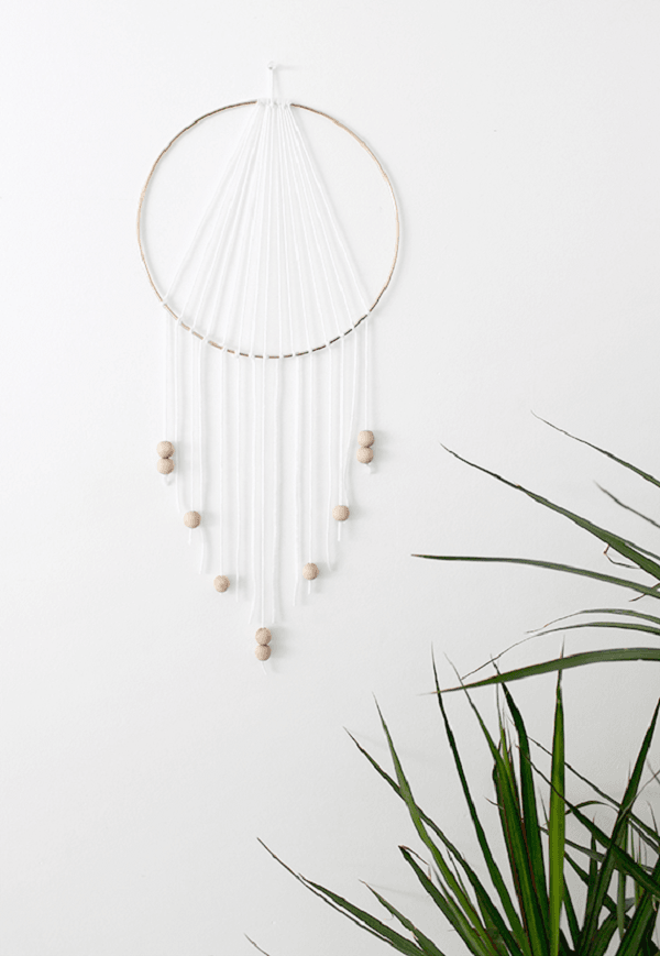 How to make a  minimalist modern dreamcatcher