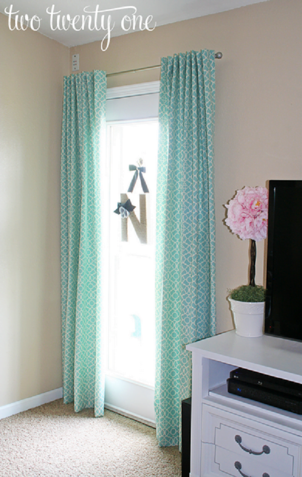 How to make #DIY Mosaic Print Curtains #homedecor