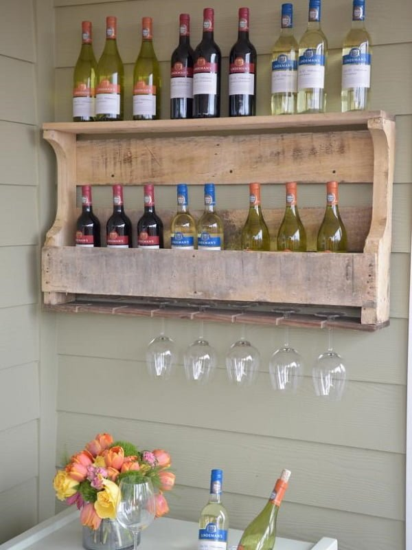 How to make a #DIY Wine Rack from pallet wood #homedecor