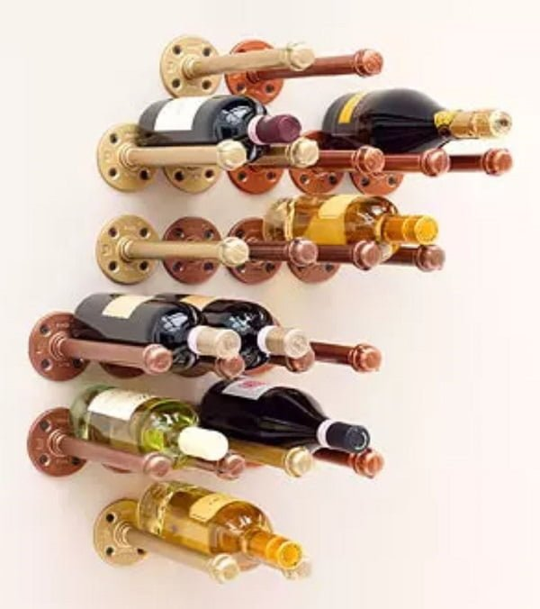 How to make a #DIY pipe Wine Rack #homedecor