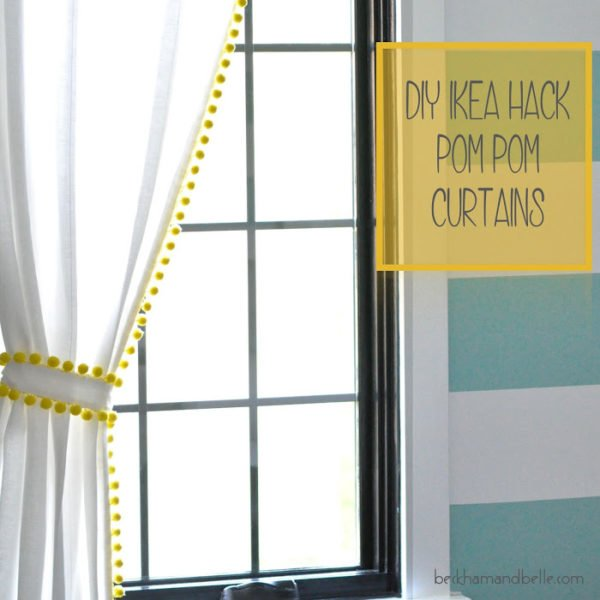 How to make #DIY Pom-Pom Curtains #homedecor