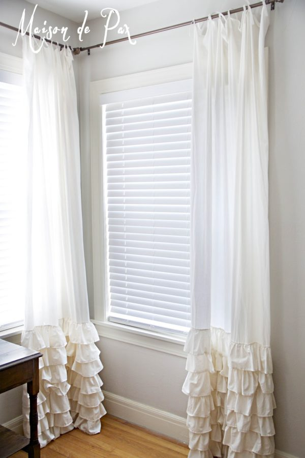 How to make #DIY Ruffled Curtains #homedecor