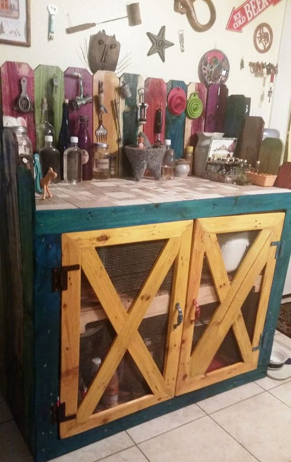 How to build  kitchen cabinets from pallet wood   ideas