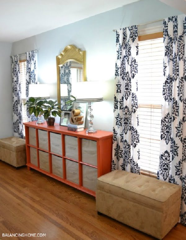 How to make #DIY Stenciled Drape Curtains #homedecor