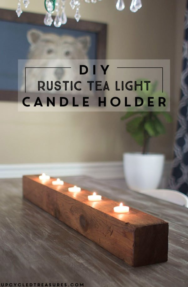 How to make  wood tea lights candleholders