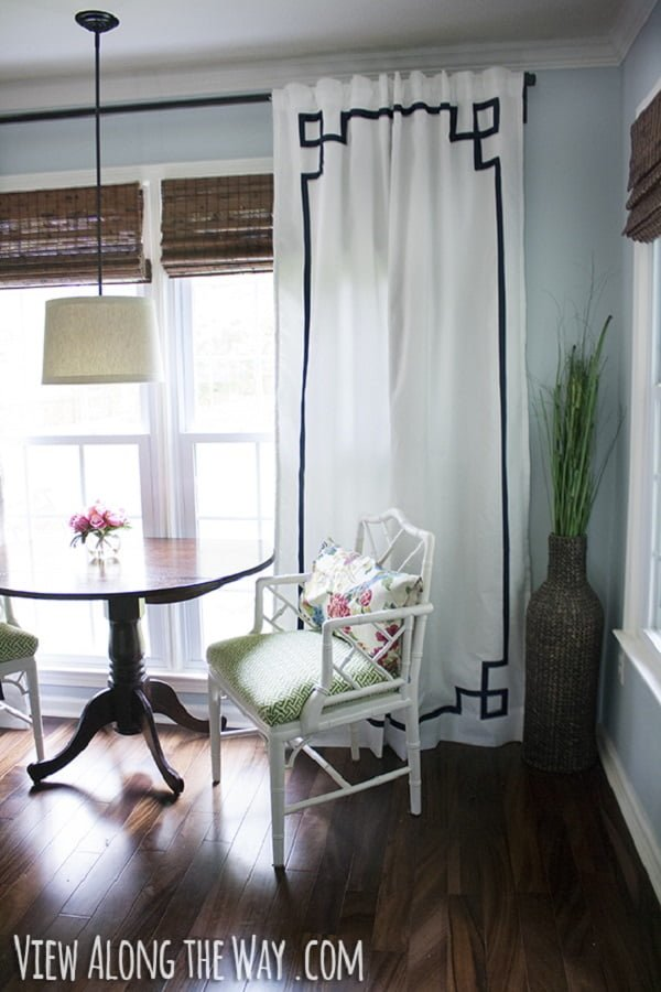 How to make #DIY Temple Frame Curtains #homedecor