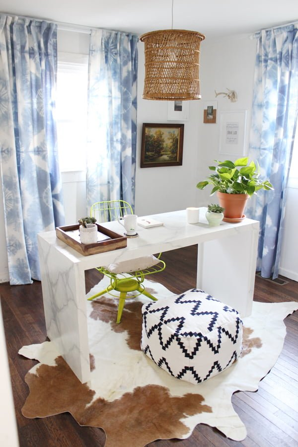 How to make #DIY Tie Dye Curtains #homedecor