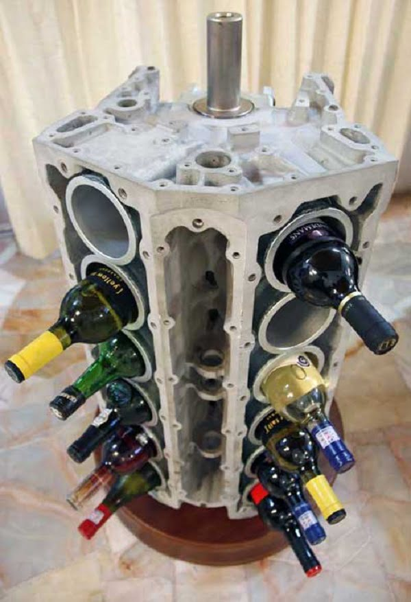 How to make a #DIY Wine Rack form an old V12 engine #homedecor