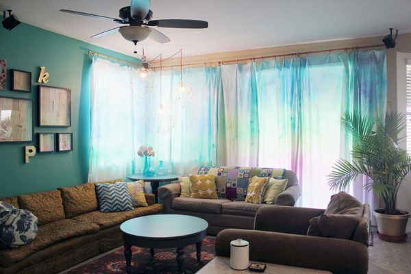 How to make #DIY Watercolor Curtains #homedecor