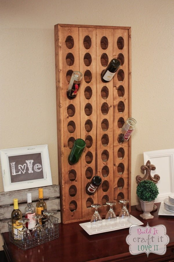 How to make a #DIY Wine Riddling Rack #homedecor