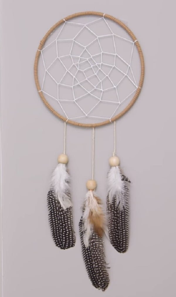 How to make a  dreamcatcher with feathers