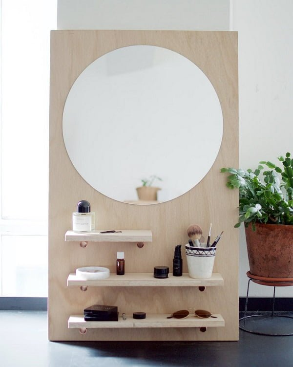 How to make a  pine wood makeup vanity table