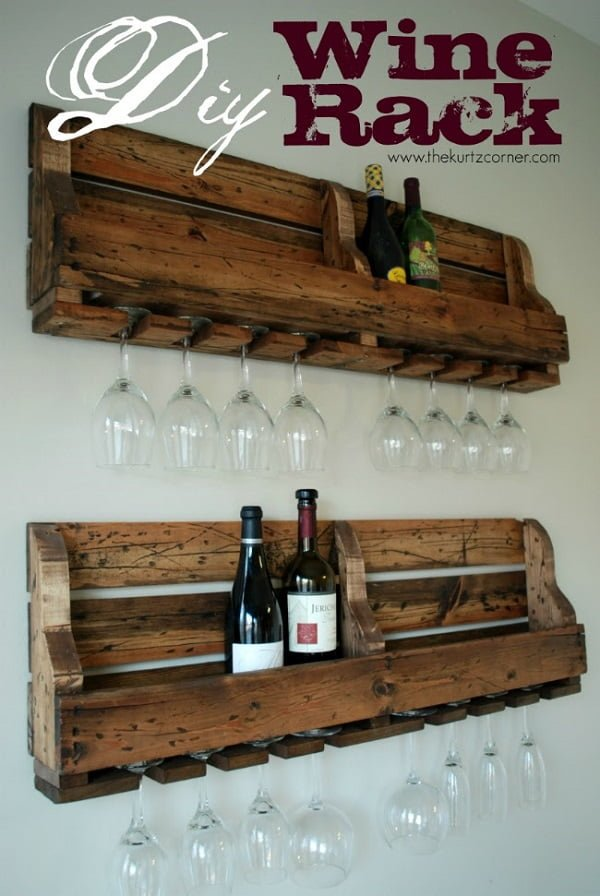 How to make a Rustic #DIY Wine Rack #homedecor