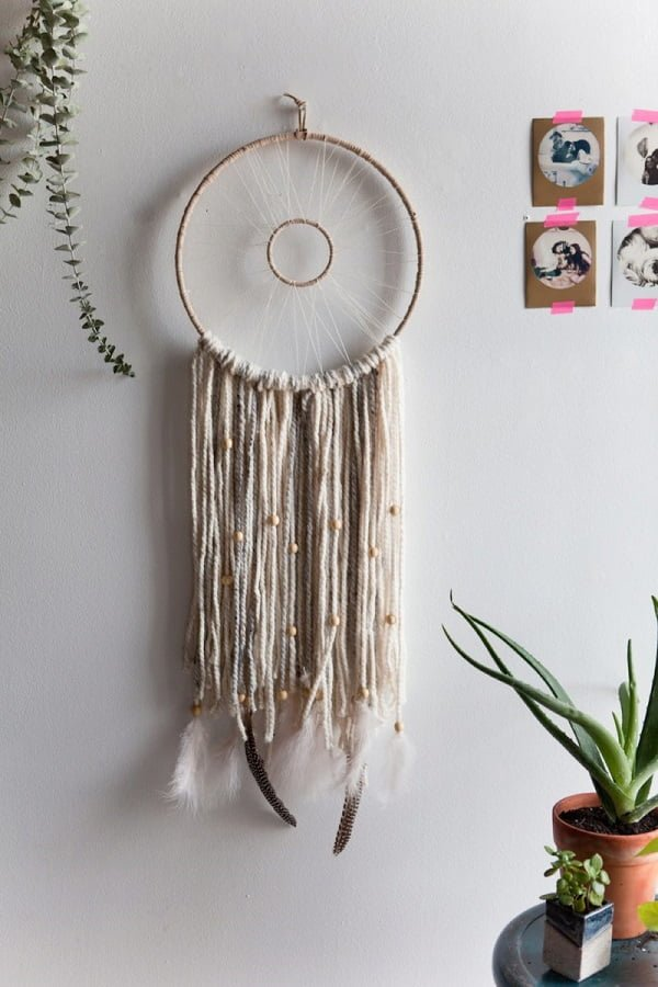 How to make a #DIY woven dreamcatcher #homedecor