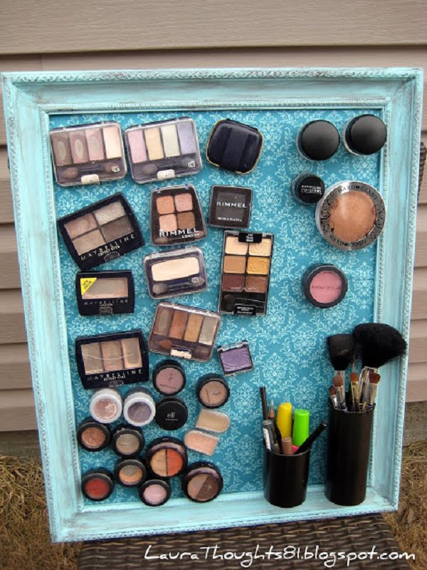 How to make a creative DIY magnet makeup organizer